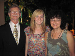 Dr. Dan, daughter Amanda, wife Danuta