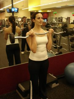 Barbell curls -- second position