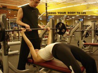 Improper bench pres form -- arching back