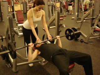 Bench press -- second position