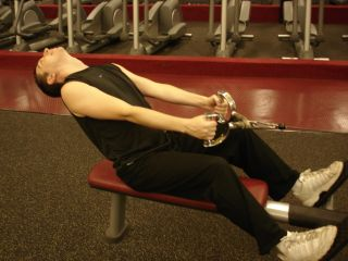 Cable rows -- hyperextended