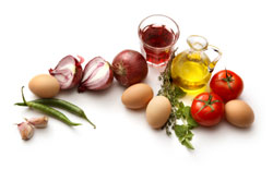 eggs, vegetables and oil