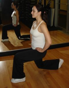 Lunges -- left leg forward