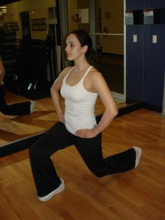 Lunges -- right leg forward