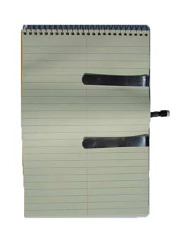 notebook for recording weight loss