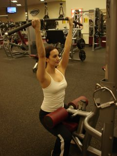 Reverse grip pulldowns -- starting position