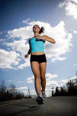 pretty woman running