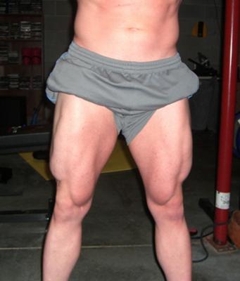 Leg development from weight training