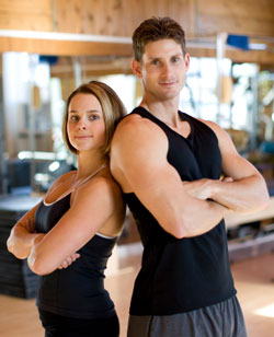 photo of fit man and woman