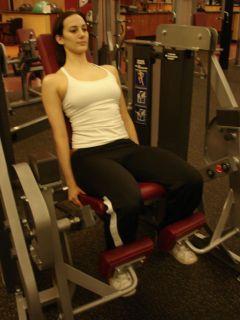 Leg extensions -- starting position