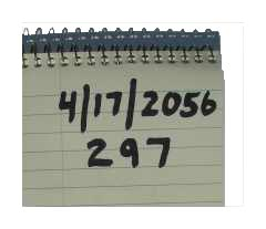 notobook with dates