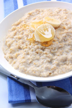 oatmeal with bananas and honey