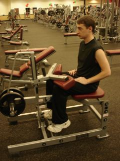 Seated calf raises -- second position