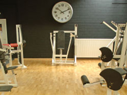 large clock in gym
